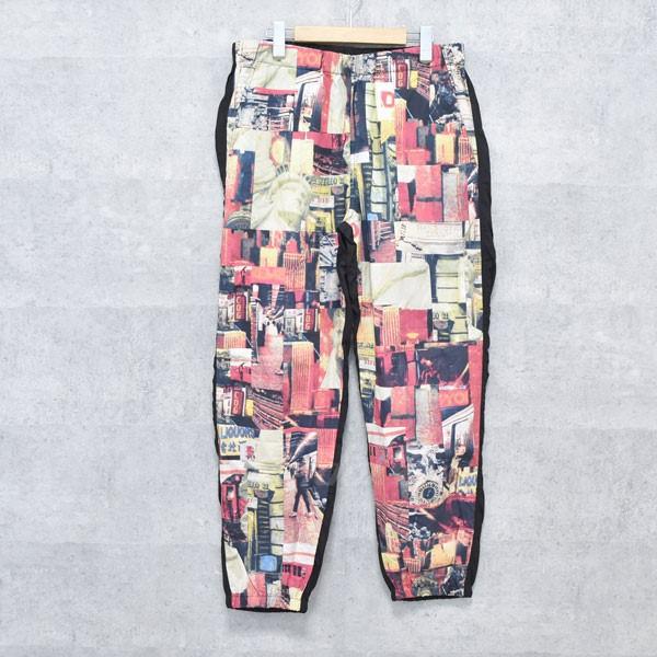 【中古】SUPREME × COMME DES GARCONS SHIRT 18AW Patchwork Skate Pant パッチワーク パンツ ブラック サイズ:L 【送料無料】 【260918】(シュプリーム×コムデギャルソンシャツ)
