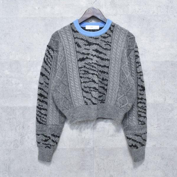 【中古】TOGA PULLA 17AW acquard knit pullover ジャガードニットセーター グレー サイズ:36 【送料無料】 【260918】(トーガ プルラ)
