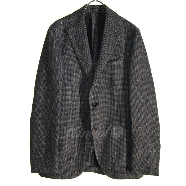 【中古】LARDINI シングルジャケット JM0526AQ EERP50587/14 ブラック×ホワイト サイズ:44 【送料無料】 【260918】(ラルディーニ)