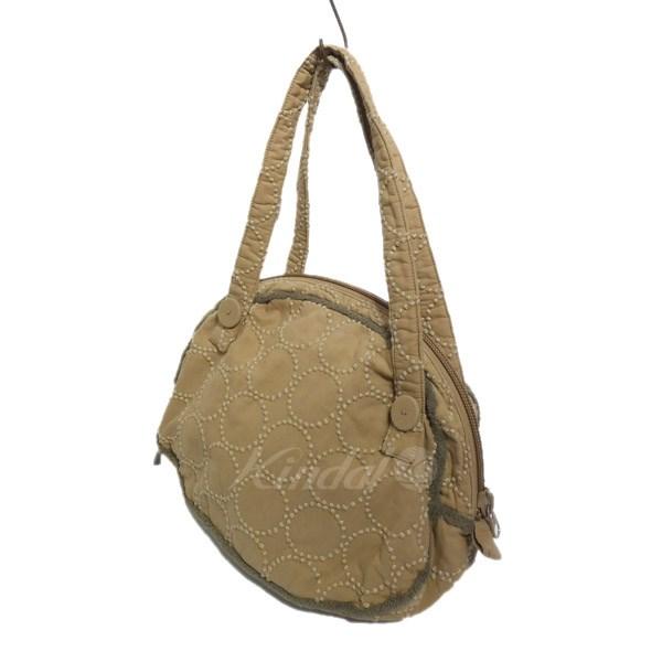 【中古】mina perhonen cloud bag tambourine タンバリン クラウドバッグ ベージュ 【送料無料】 【260918】(ミナペルホネン)
