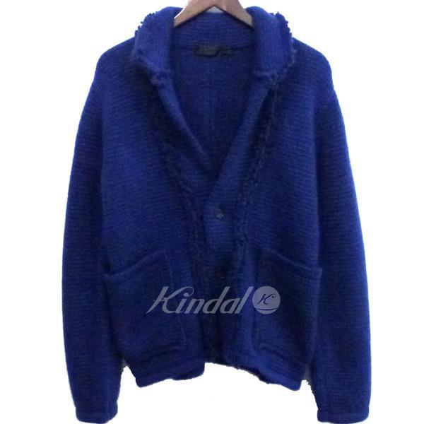 【中古】ALEXANDER McQUEEN ニットジャケットカーディガン ブルー サイズ:S 【送料無料】 【260918】(アレキサンダーマックイーン)