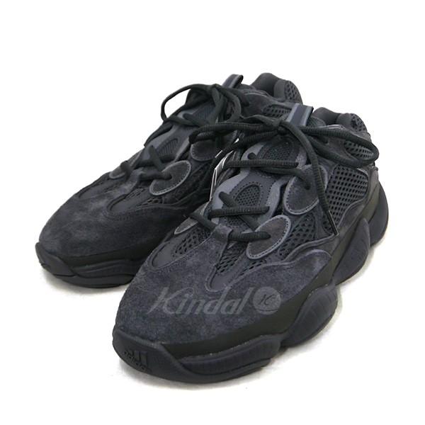 【10月18日 お値段見直しました】【中古】adidas originals by Kanye West2018SS YEEZY 500 イージー スニーカー F36640 ブラック サイズ:JP27 【送料無料】