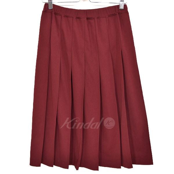 【中古】COMME des GARCONS COMME des GARCONS 製品染めジャージープリーツスカート 2005AW ボルドー サイズ:M 【送料無料】 【270918】(コムデギャルソンコムデギャルソン)