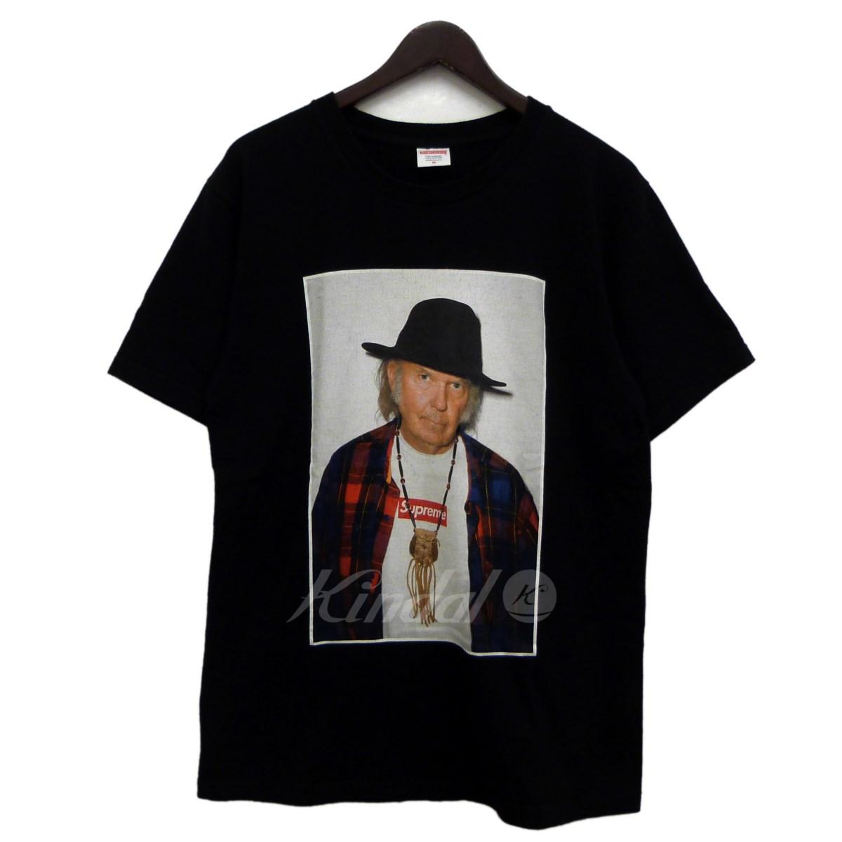 【中古】SUPREME 15SS「Neil Toung Tee」ニールヤングTシャツ ブラック サイズ:M 【送料無料】 【260918】(シュプリーム)