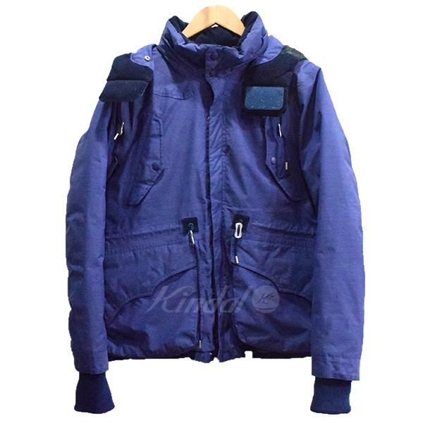 【中古】White Mountaineering Pertex Chambray Middle Down Jacket ダウンジャケット ブルー サイズ:0 【送料無料】 【260918】(ホワイトマウンテニアリング)