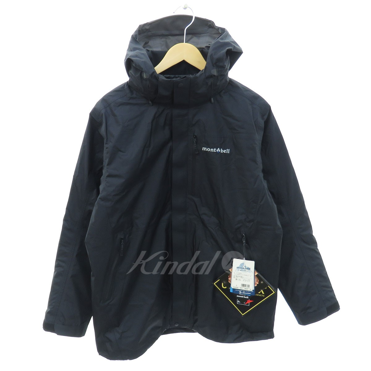 【中古】mont bell 1101511 Gore-TEX ヴェイルダウンパーカー ブラック サイズ:L 【送料無料】 【300918】(モンベル)