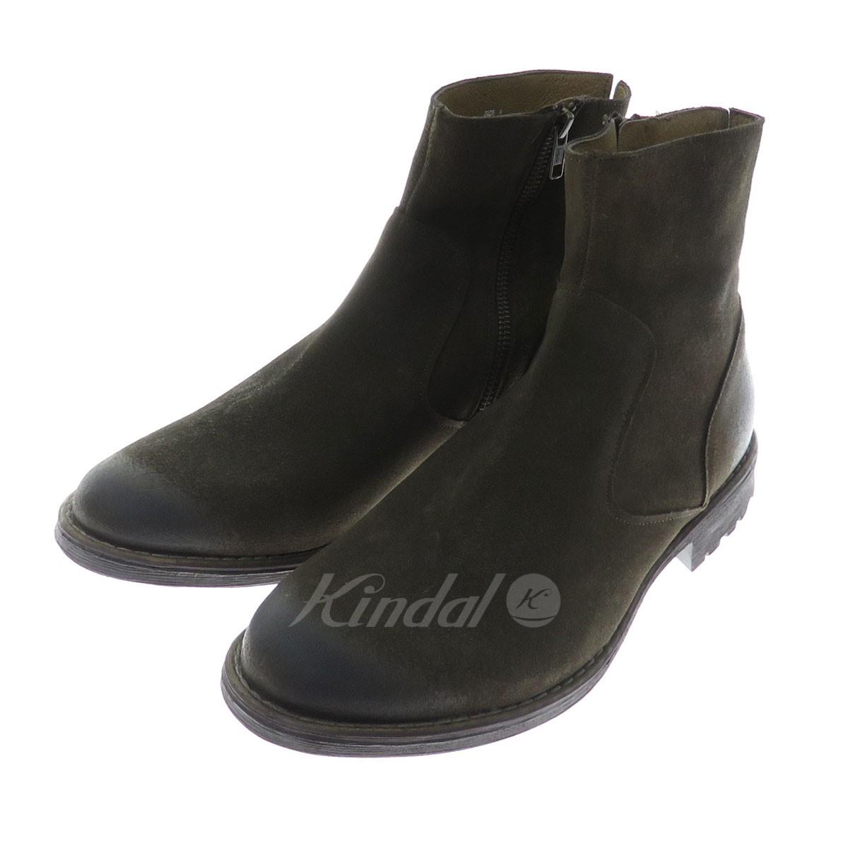 【中古】Zzyxx Shoes サイドジップブーツ ブラウン サイズ:8 【送料無料】 【300918】(ジージックスシューズ)