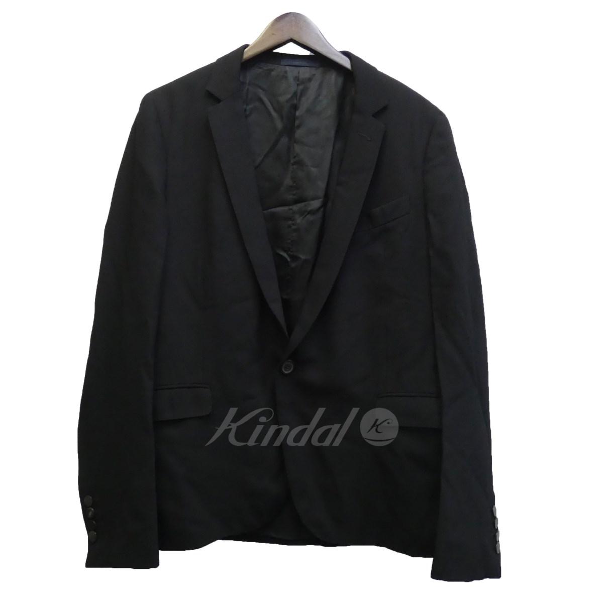 【中古】LANVINピークドB1 テーラードジャケット ブラック サイズ:46 【送料無料】