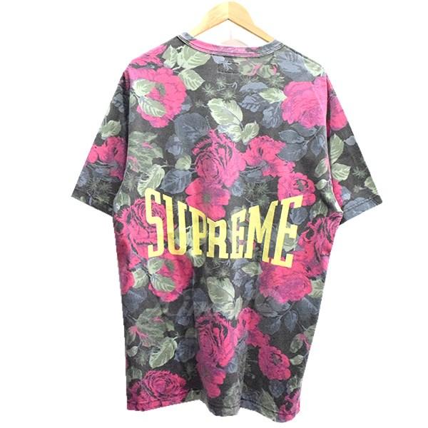 【中古】SUPREME 18SS Flowers Tee フラワーTシャツ 【送料無料】 【002326】 【KIND1550】