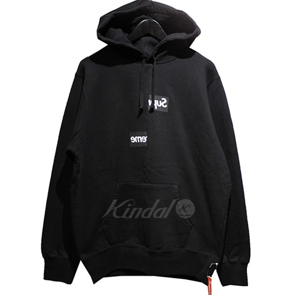 【中古】SUPREME×COMME des GARCONS SHIRT 18AW Split Box Logo Hooded Sweatshirt ボックスロゴ パーカー 【送料無料】 【001218】 【KIND1550】