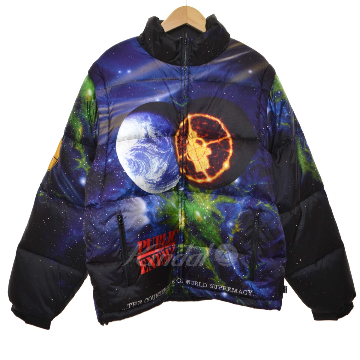 【中古】Supreme x UNDERCOVER 2018SS「Public Enemy Puffy Jacket」ダウンジャケット 【送料無料】 【026314】 【HR1471】 【返品不可】