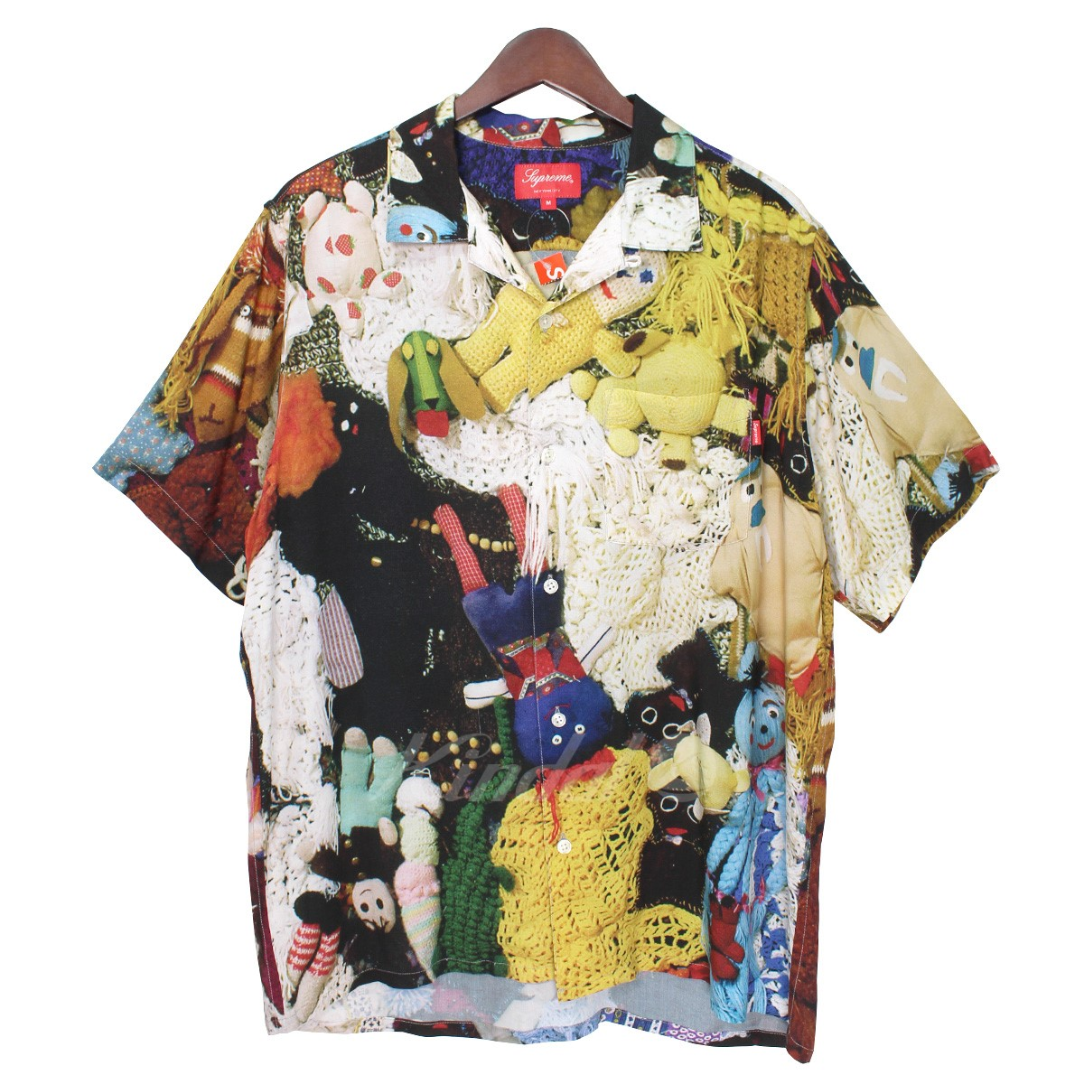 【中古】Supreme×Mike Kelley More love Hour Than Can Ever Be Repaid Rayon Shirt マルチ サイズ:M 【送料無料】 【021018】(シュプリーム マイクケリー)