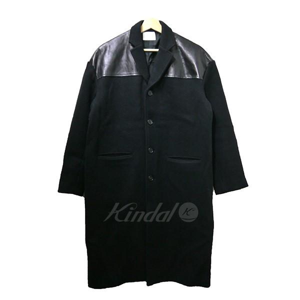 【中古】MIN マイン DONKEY COAT レザー切替ドンキーコート ブラック サイズ:2 【送料無料】 【051018】(マイン)