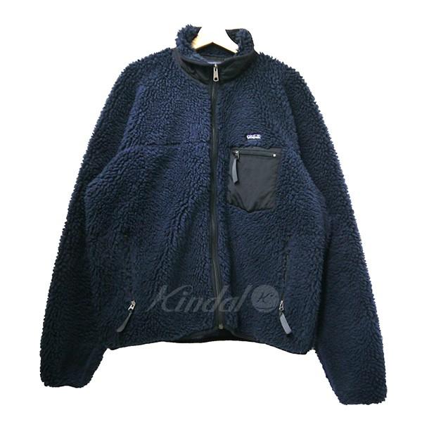 【中古】patagonia パタゴニア 2002年製 レトロXフリースジャケット 23024 USA製 ネイビー サイズ:L 【送料無料】 【051018】(パタゴニア)