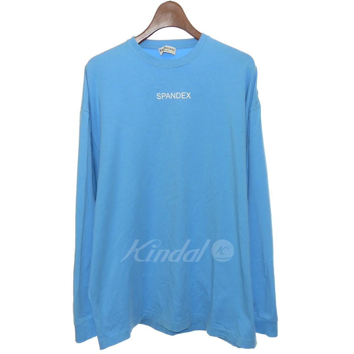 【中古】BALENCIAGA 2017SS SPANDEX長袖Tシャツ ブルー サイズ:L 【送料無料】 【051018】(バレンシアガ)