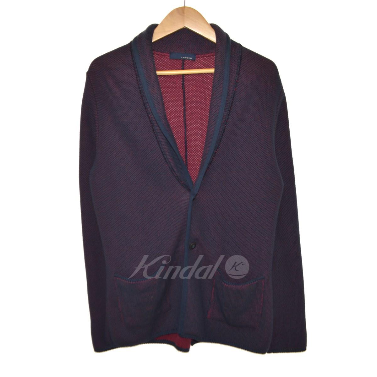 【中古】LARDINI 2Bショールカラージャケット ネイビー サイズ:XS 【送料無料】 【051018】(ラルディーニ)