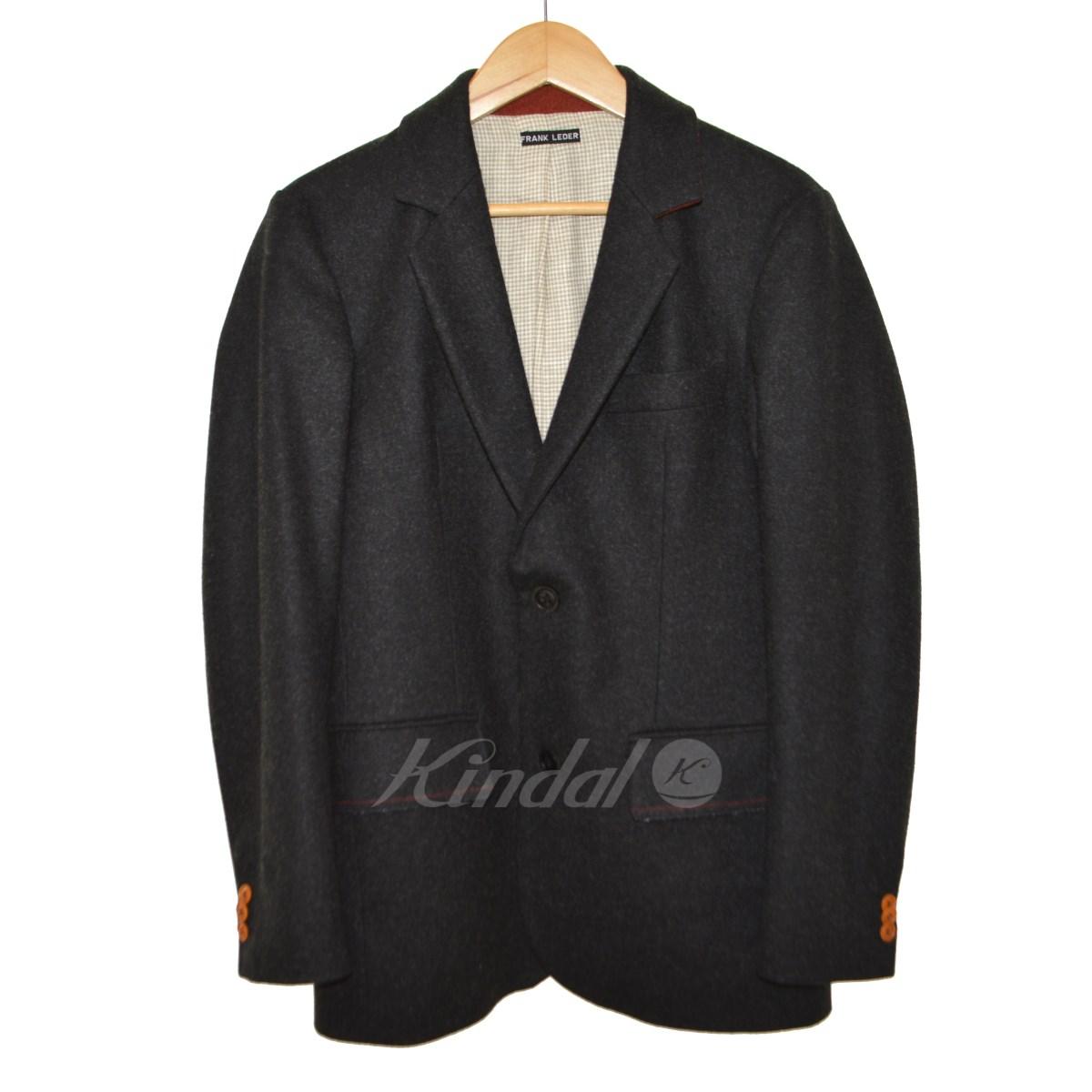 【中古】FRANK LEDER 2Bウールジャケット ブラック サイズ:XS 【送料無料】 【051018】(フランクリーダー)
