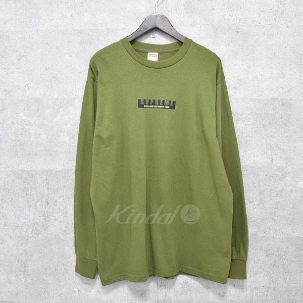 【中古】SUPREME 18AW 1994 L/S Tee フロントロゴロングスリーブTシャツ 【送料無料】 【206009】 【KIND1550】