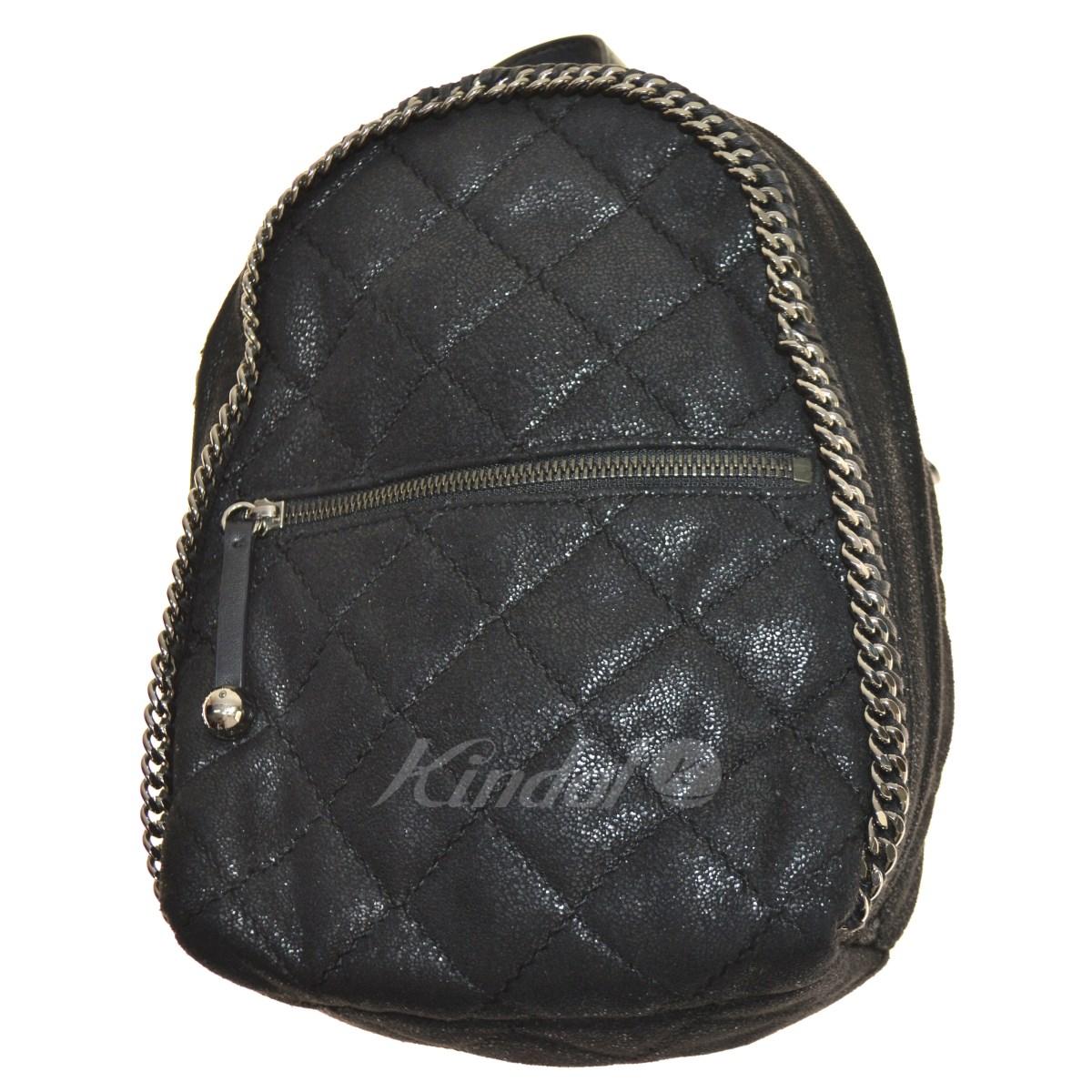 【中古】STELLA McCARTNEY Falabella Quilted Backpack フェイクレザーバックパック ブラック サイズ:- 【送料無料】 【051018】(ステラマッカートニー)