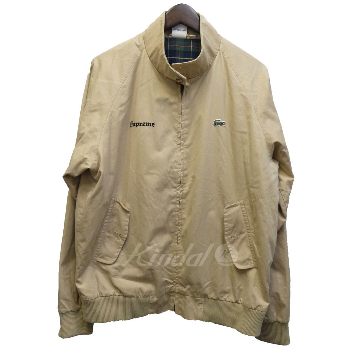 【中古】SUPREME×LACOSTE 17SS「Harrington Jacket」スウィングトップブルゾン ベージュ サイズ:FR 52 【送料無料】 【051018】(シュプリーム ラコステ)
