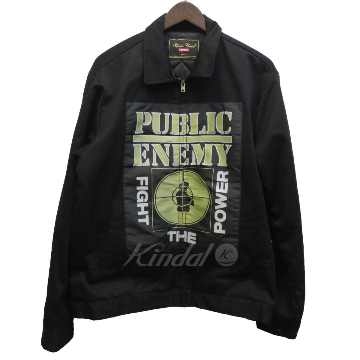 【中古】SUPREME × UNDERCOVER 18SS「Public Enemy Work Jacket」パブリックエネミーワークジャケット ブラック サイズ:M 【送料無料】 【051018】(シュプリーム アンダーカバー)