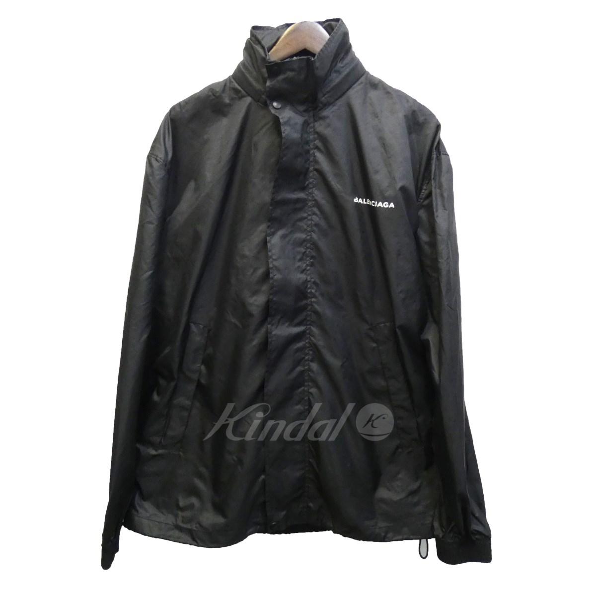 【中古】BALENCIAGA 17SS ロゴプリントジャケット ブラック サイズ:S 【送料無料】 【051018】(バレンシアガ)