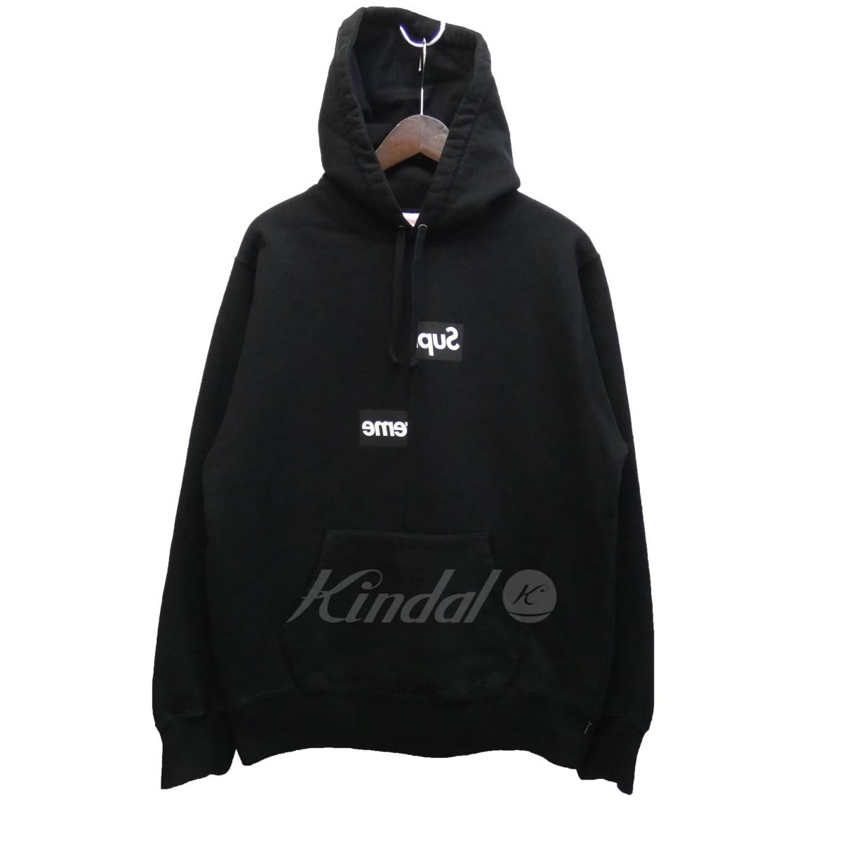 【中古】SUPREME×CdG SHIRT 18AW「Split Box Logo Hooded Sweatshirt」プルオーバーパーカー 【送料無料】 【102745】 【KIND1550】