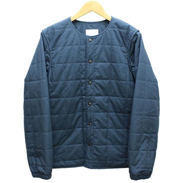 【中古】URU TOKYO キツティング ノーカラージャケット ブルー サイズ:2 【送料無料】 【051018】(ウル トーキョー)