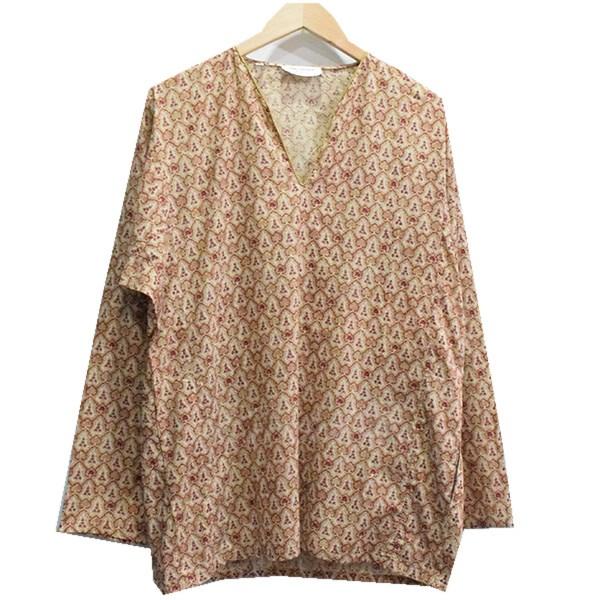 【中古】SAINT LAURENT PARIS 15SS プルオーバーVネックシャツ ベージュ サイズ:38 【送料無料】 【051018】(サンローランパリ)