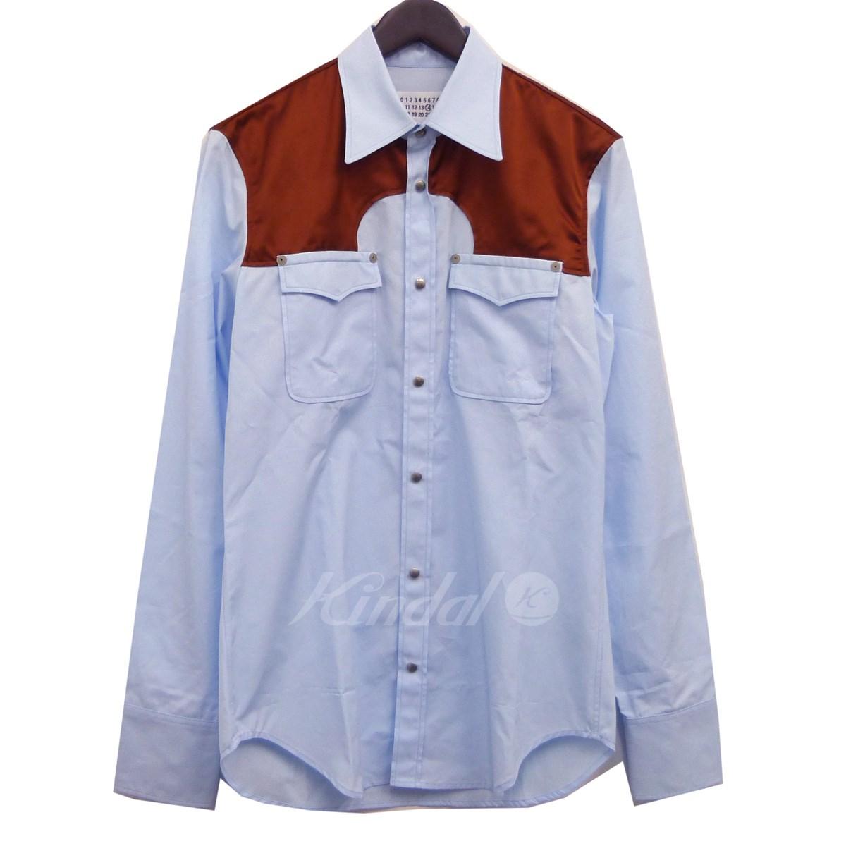 【中古】Martin Margiela14 18AW ウエスタンシャツ 38 サイズ:38 【送料無料】 【061018】(マルタンマルジェラ14)