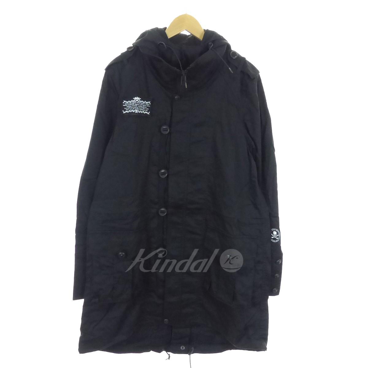 【中古】Roen ミリタリーモッズコート ブラック サイズ:44 【送料無料】 【061018】(ロエン)