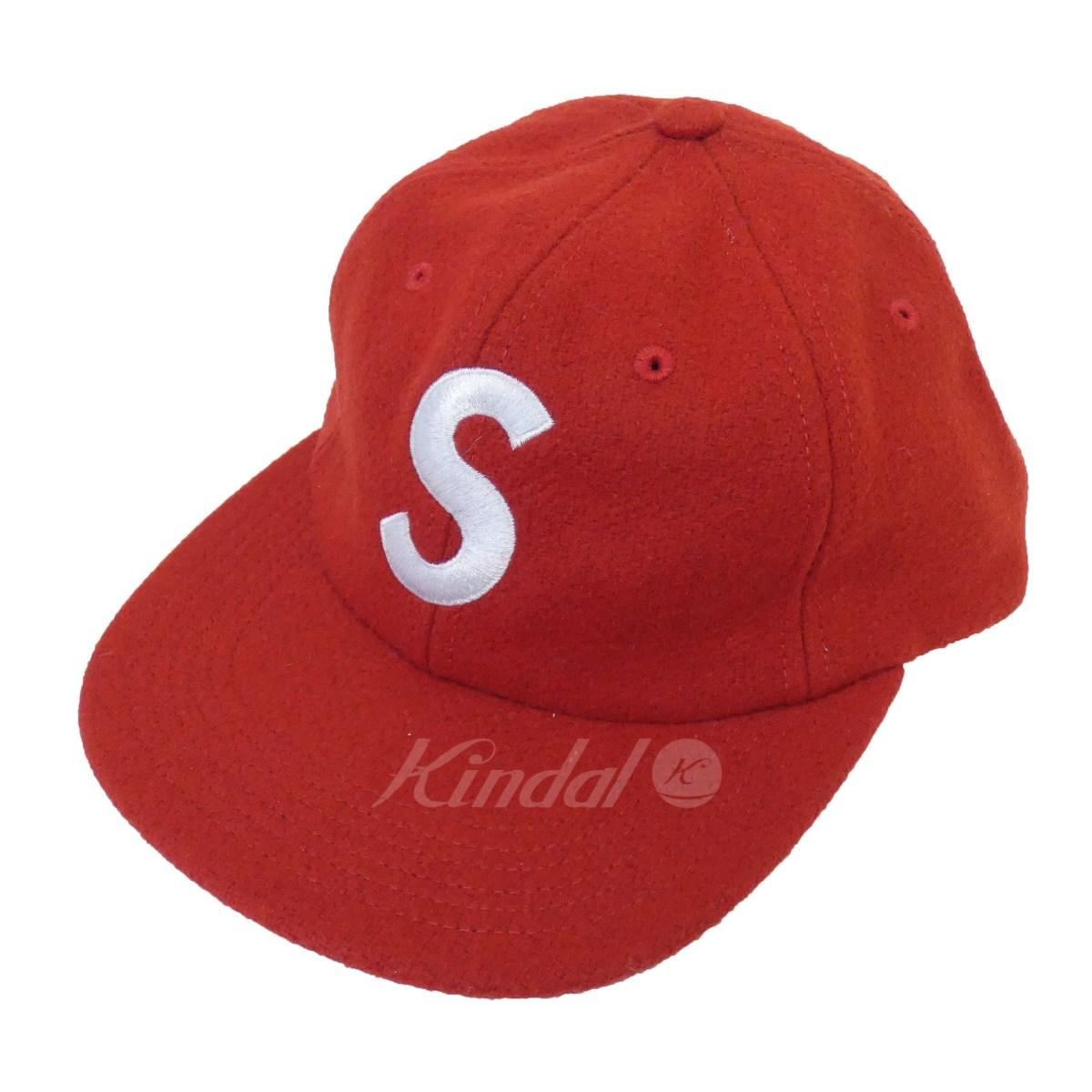 【中古】SUPREME 「Wool S Logo 6-Panel」Sロゴウールキャップ レッド サイズ:- 【送料無料】 【061018】(シュプリーム)