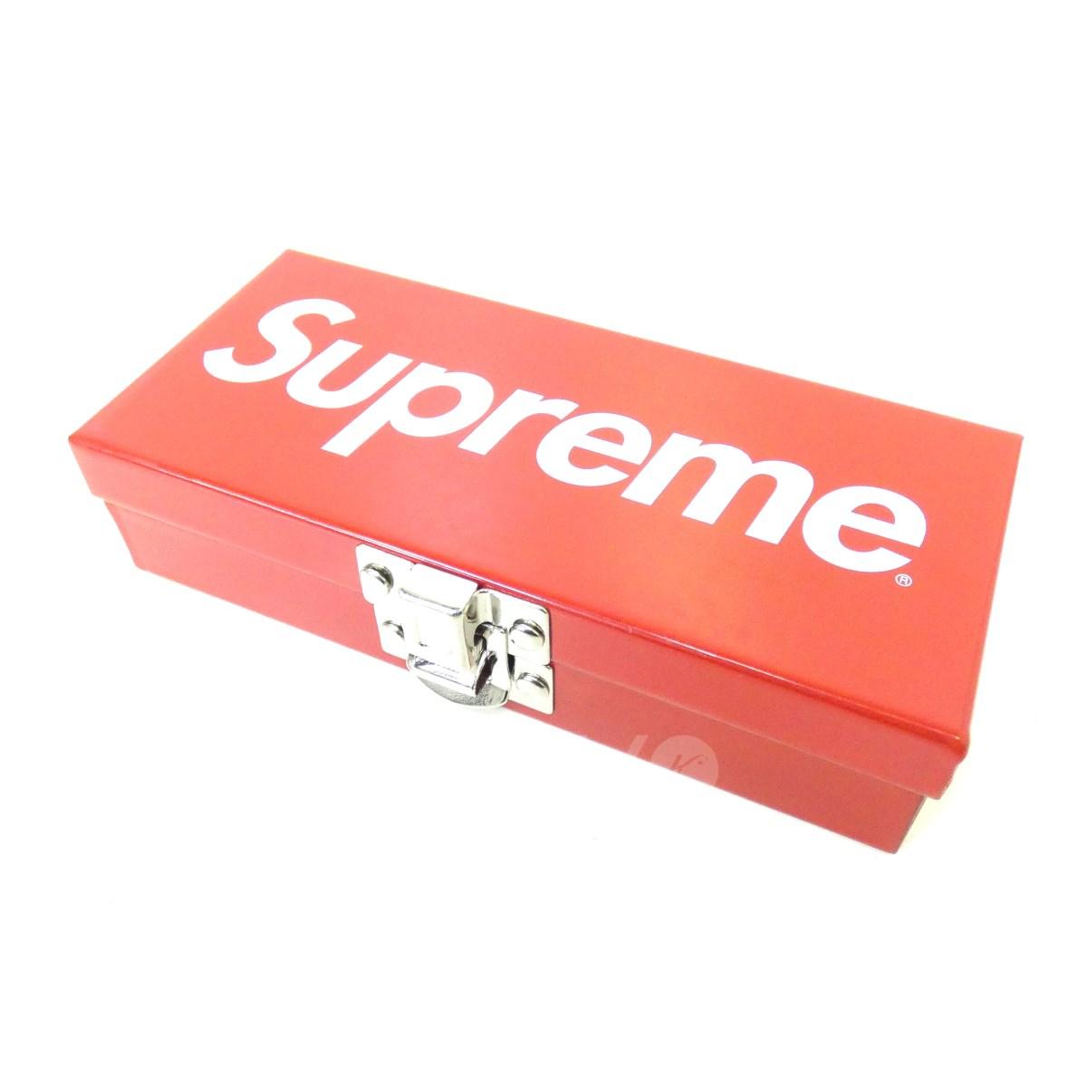 【中古】SUPREME 17SS「Small Metal Storage Box」ロゴスモールメタルボックス レッド サイズ:- 【送料無料】 【061018】(シュプリーム)