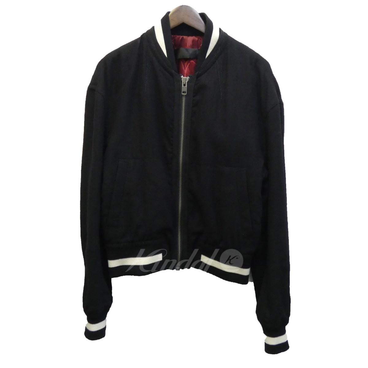 【中古】HAIDER ACKERMANN ボンバージャケット ブラック サイズ:S 【送料無料】 【061018】(ハイダーアッカーマン)