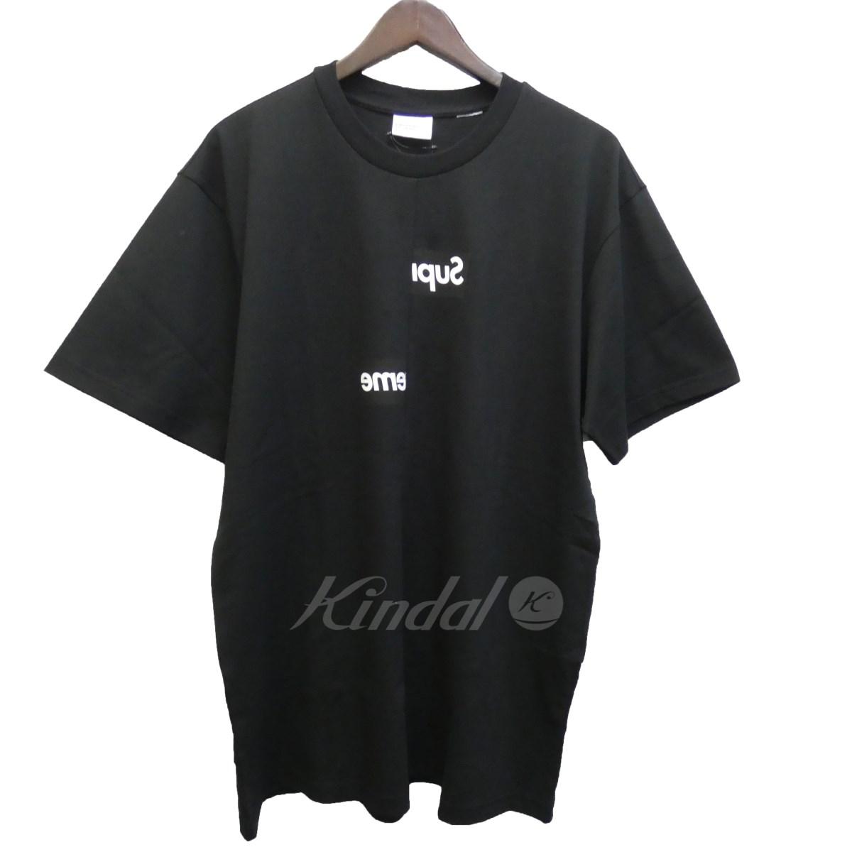 【中古】SUPREME×CdG SHIRT 18AW「Split Box Logo Tee」スプリットBoxロゴTシャツ ブラック サイズ:L 【送料無料】 【061018】(シュプリーム コムデギャルソンシャツ), 加西市:a66e8ac4 --- micim.jp