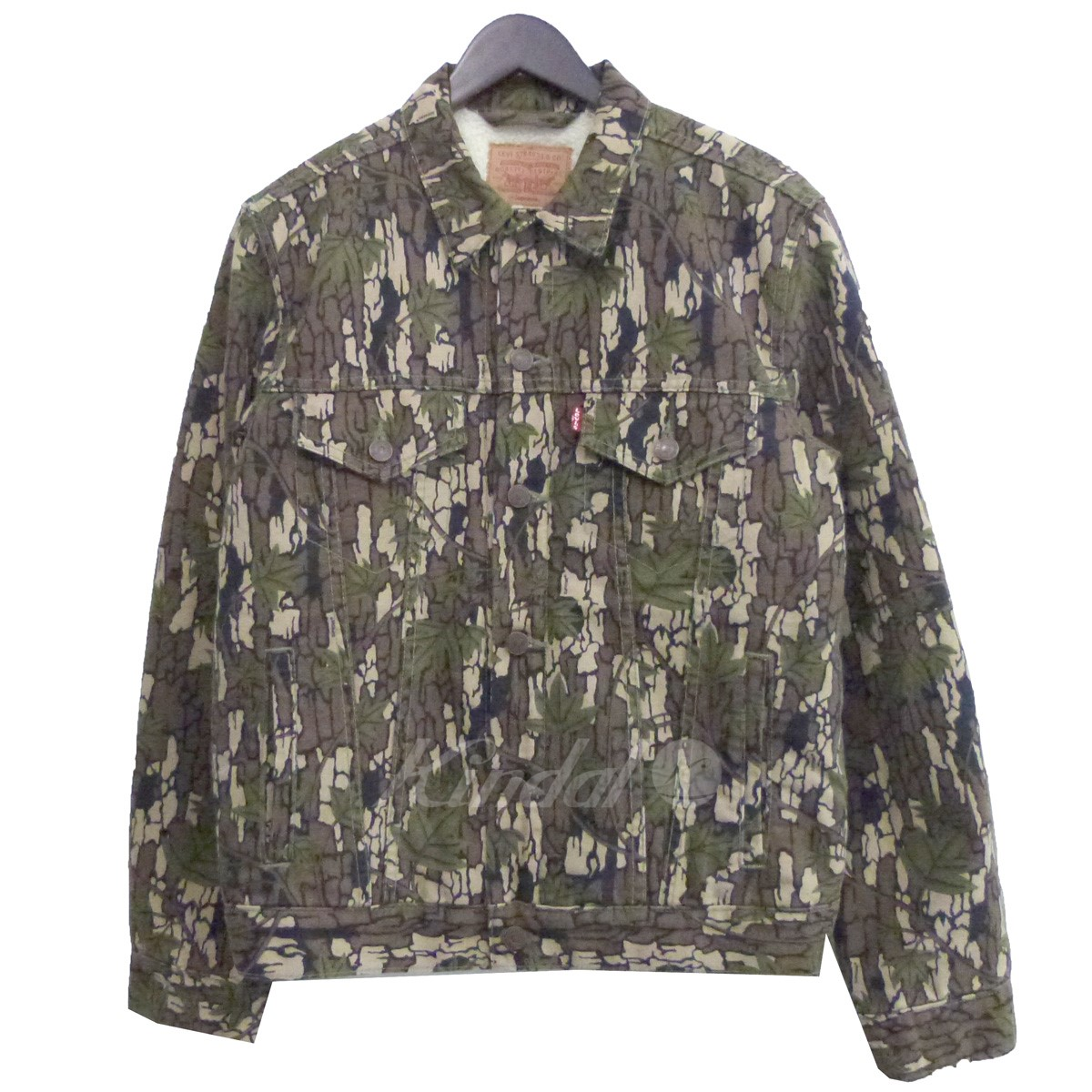 【中古】Supreme×Levis 13AWSherling Lined Camoflage Canvas Trucker Jacket 【送料無料】 【138512】 【KIND1550】