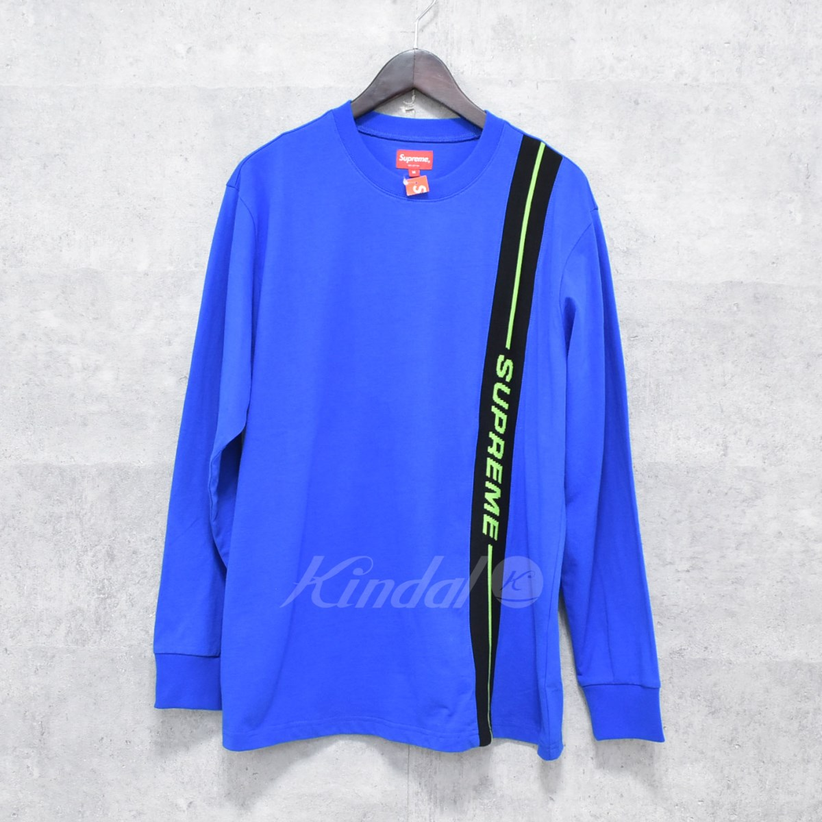 【中古】SUPREME 2018A/W Vertical Logo Stripeカットソー 【送料無料】 【245435】 【KIND1550】