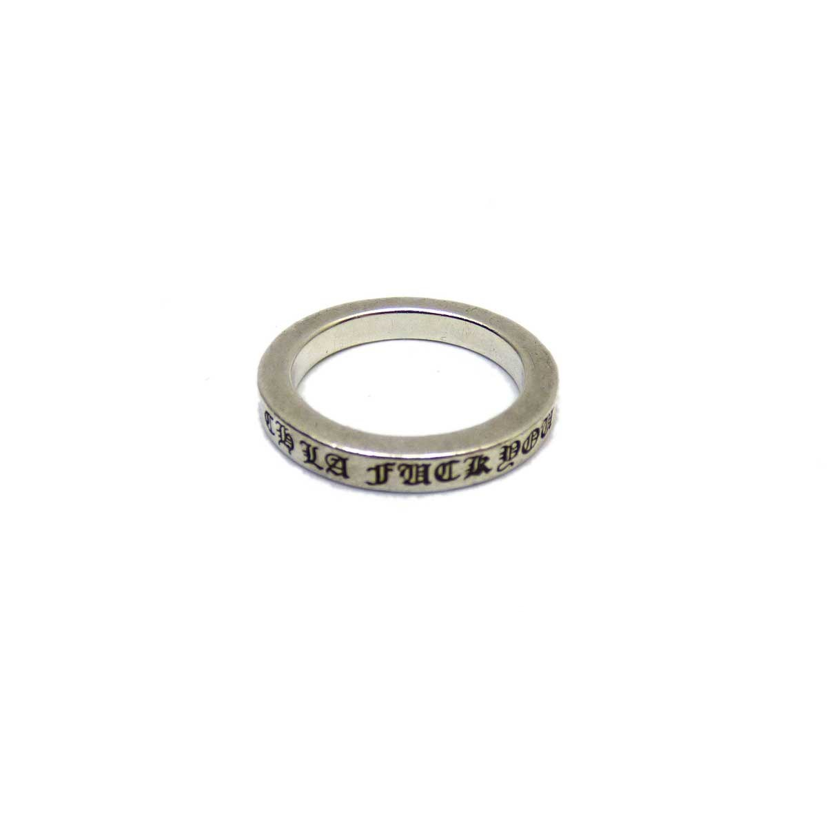 【中古】CHROME HEARTS Ring Spacer 3mm CHLA Fuck you シルバーリング 【送料無料】 【146413】 【KIND1550】