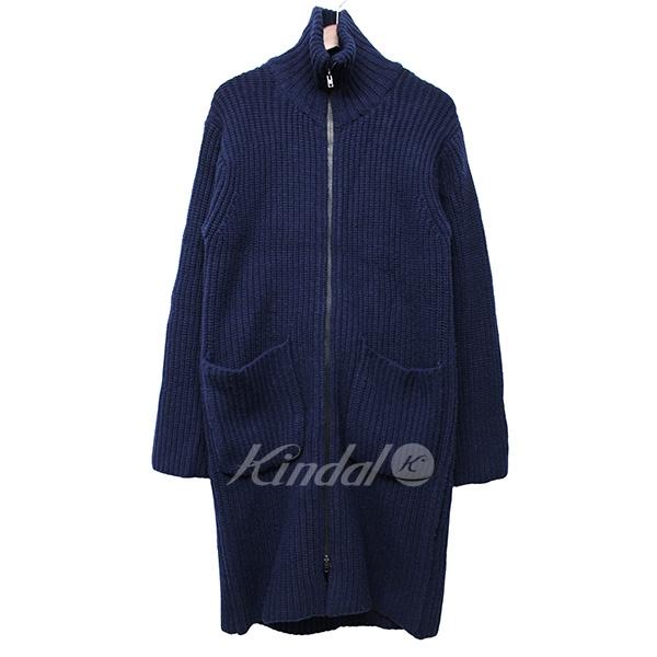 【中古】UNUSED 2015AW 3G zip up knit coat ジップアップニットガウンコート 【送料無料】 【000626】 【KIND1550】