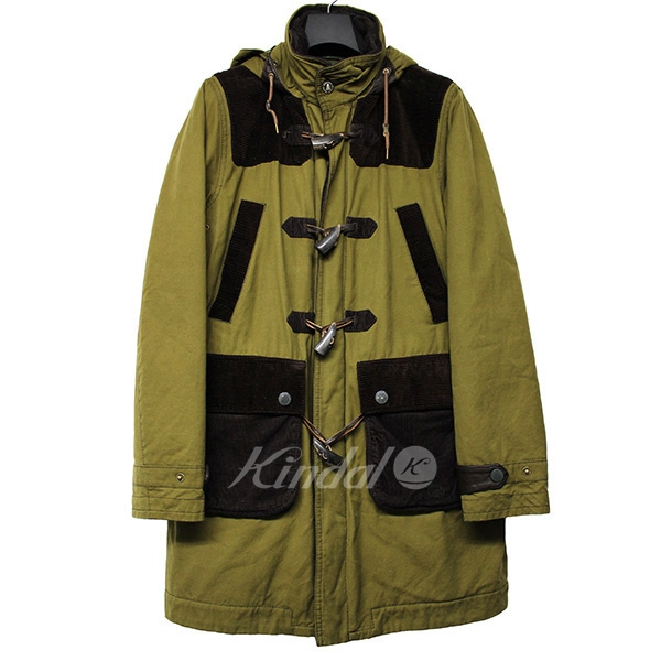 【中古】Barbour White Mountaineering 2015AW Wax Jacket オイルドダッフルコート 【送料無料】 【003229】 【KIND1550】