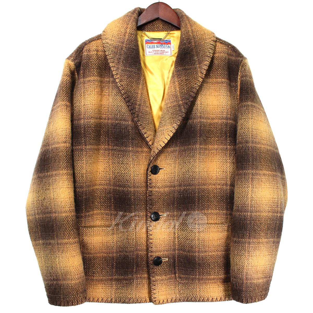 【中古】CALEE 2016AW SHAGGY WOOL CHECK SHAWL JACKET 【送料無料】 【000906】 【KIND1550】