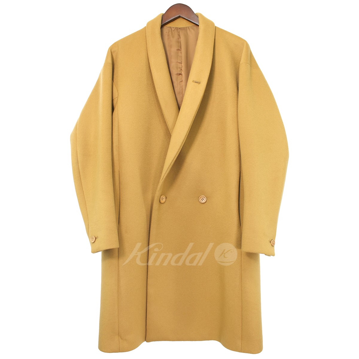 【中古】ETHOSENS ショールカラーコート キャメル サイズ:1 【送料無料】 【141018】(エトセンス)