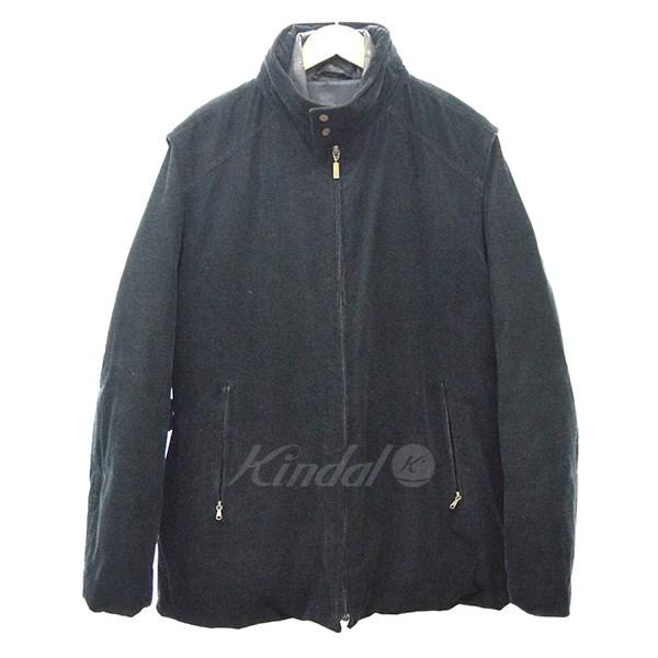【中古】MONCLER コーデュロイ2WAYダウンジャケット ヴィンテージ ブラック サイズ:3 【送料無料】 【141018】(モンクレール)