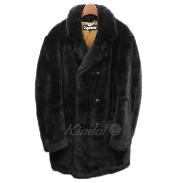 【中古】SUPREME 2016AW 「Faux Fur Double Breasted Coat」 ファーコート 【送料無料】 【070873】 【KIND1550】