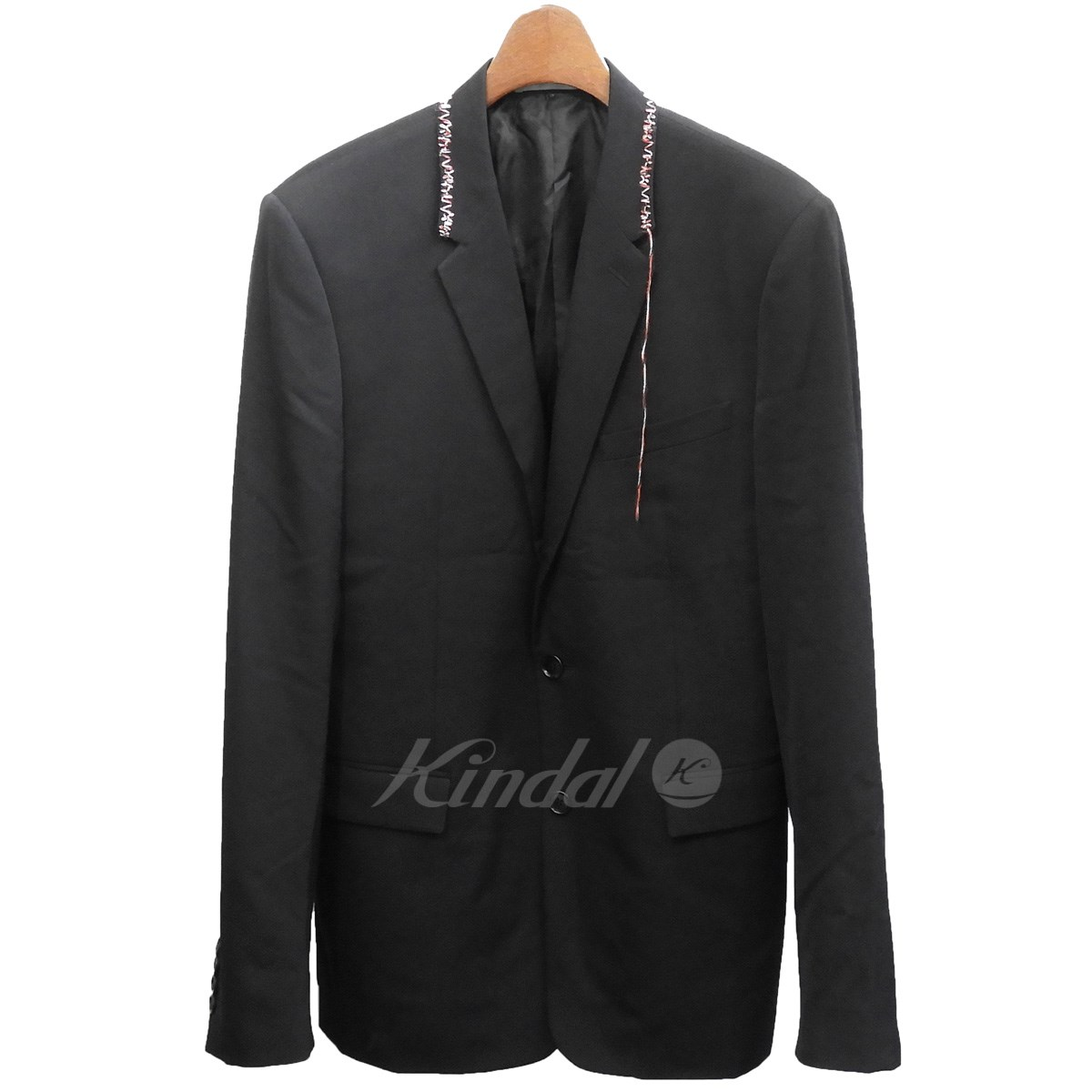 【中古】Dior Homme 2016AW 刺繍デザインテーラードジャケット ブラック サイズ:48 【送料無料】 【141018】(ディオールオム)