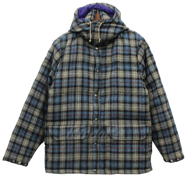 0a32bf762 THE NORTH FACE PURPLE LABEL X Harris Tweed wool check down jacket  multicolored size: S (the North Face purple label X Harris Tweed)