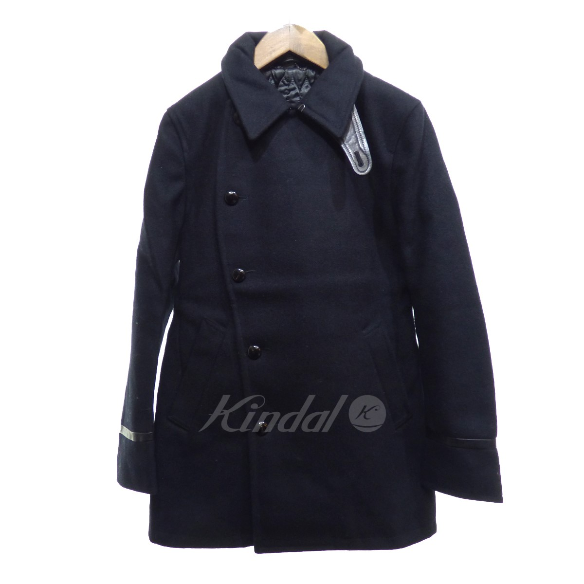 【中古】VADEL CURVE BREASTED COAT 【送料無料】 【002545】 【KIND1550】