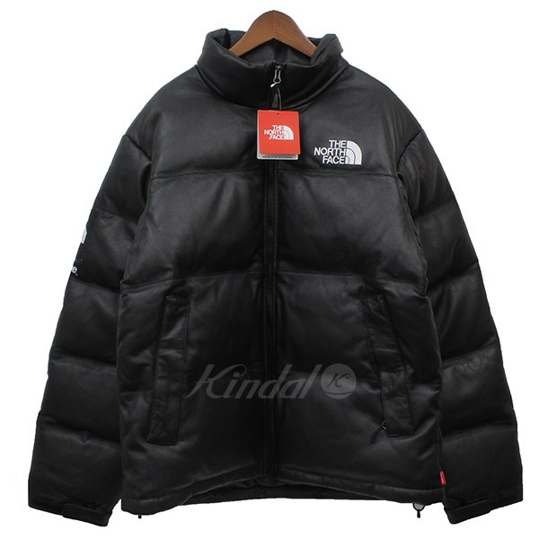 【中古】Supreme × THE NORTH FACE 2017AW ND917021I Leather Nuptse Jacket レザーヌプシダウン 【送料無料】 【002869】 【KIND1550】