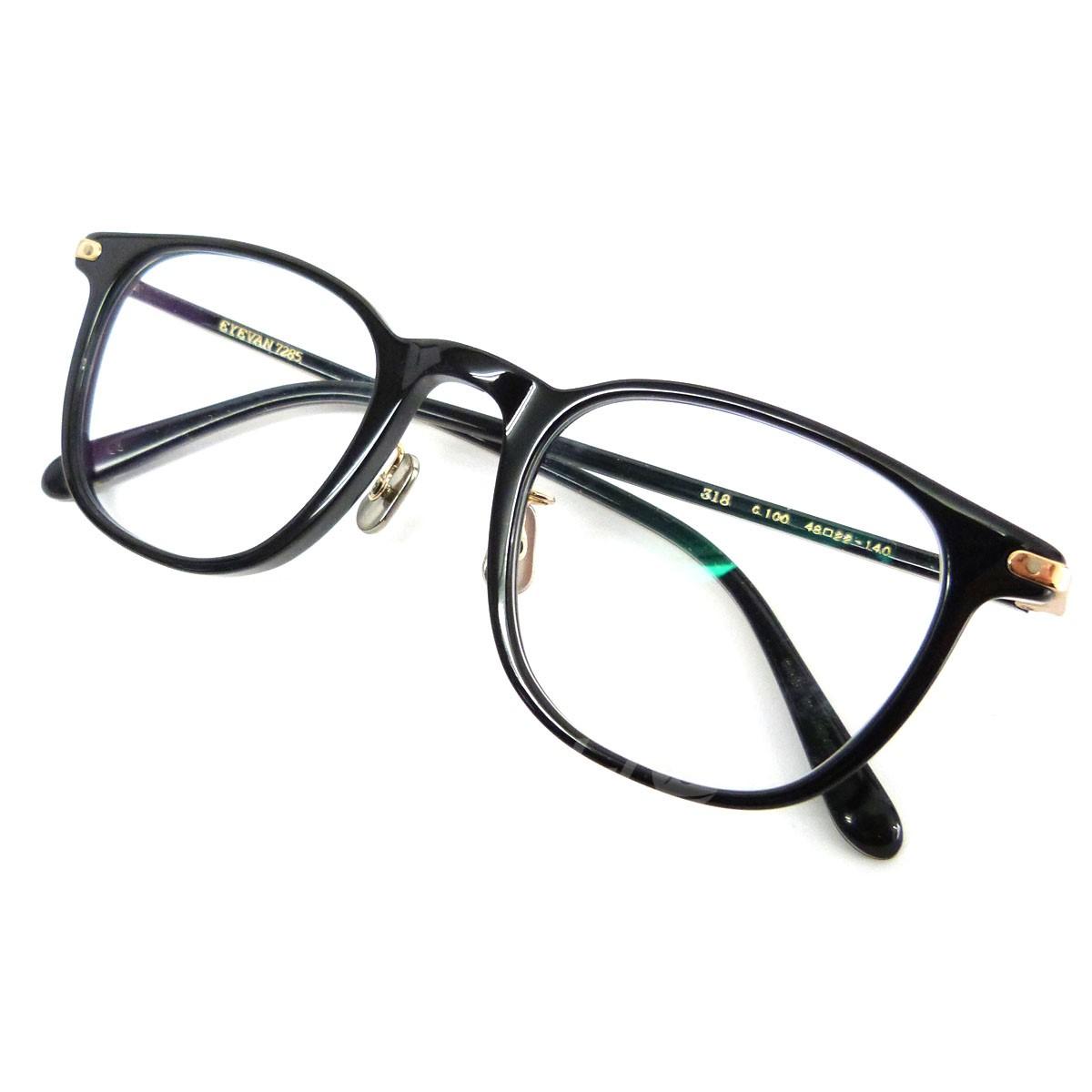 【中古】EYEVAN 7285 「318」眼鏡 ブラック×クリア サイズ:- 【送料無料】 【171018】(アイヴァン7285)