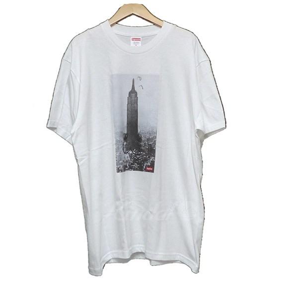 【中古】SUPREME 2018AW THE EMPIRE STATE BUILDING TEE Tシャツ ホワイト サイズ:M 【送料無料】 【171018】(シュプリーム)